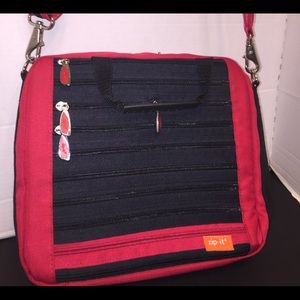Zip-It's Tablet Laptop Case Organizer Satchel Bag